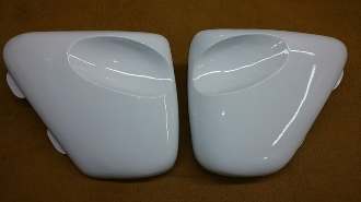 Triumph Thruxton type side covers - TRISCE